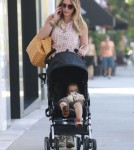 Exclusive... Hilary Duff And Family Out For Breakfast In Beverly Hills