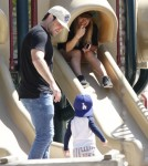 Hilary Duff & MIke Comrie Take Luca To The Park