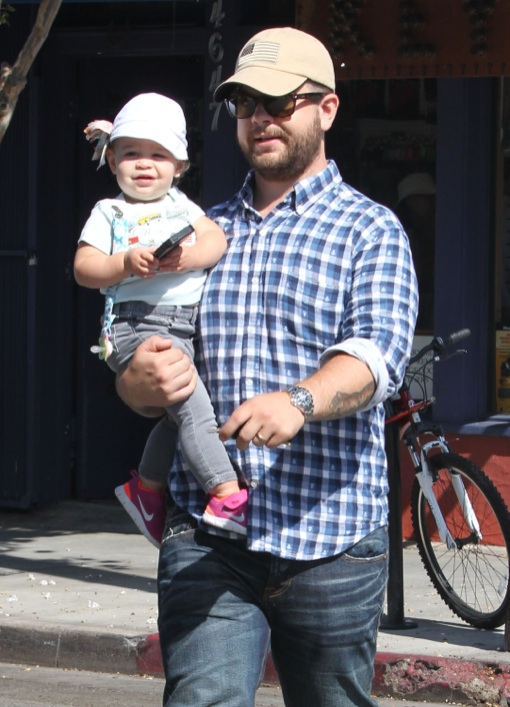 Jack Osbourne: Errand Run With His Baby Girl