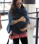 Jenna Dewan & Daughter Everly Departing On A Flight At LAX