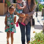Jessica Alba Takes Her Two Mini Me's to a Party