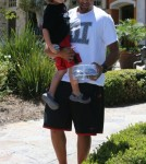 Kendra Wilkinson and Family Out For Lunch In Calabasas
