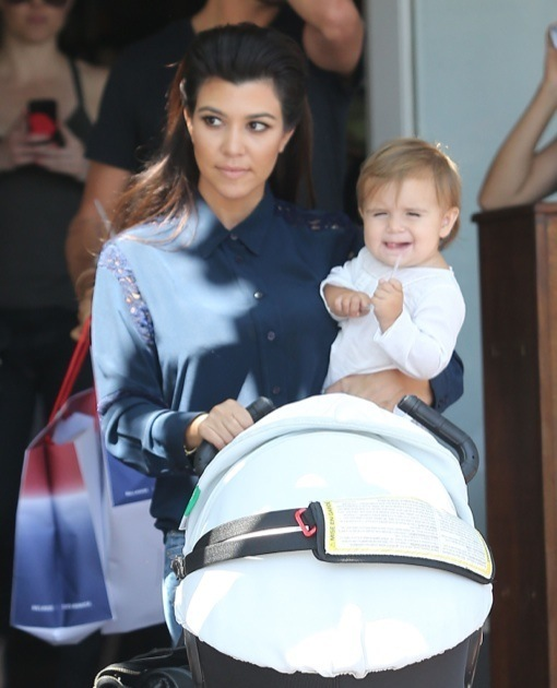 Kourtney Kardashian Takes Penelope Shopping