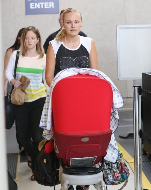 Malin Akerman Touches Down With Her Baby Boy