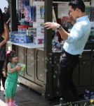 Exclusive... Mario Lopez Hangs Out With His Girls On Set