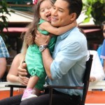 Mario Lopez's Two Favorite Girls Visit Him at Work
