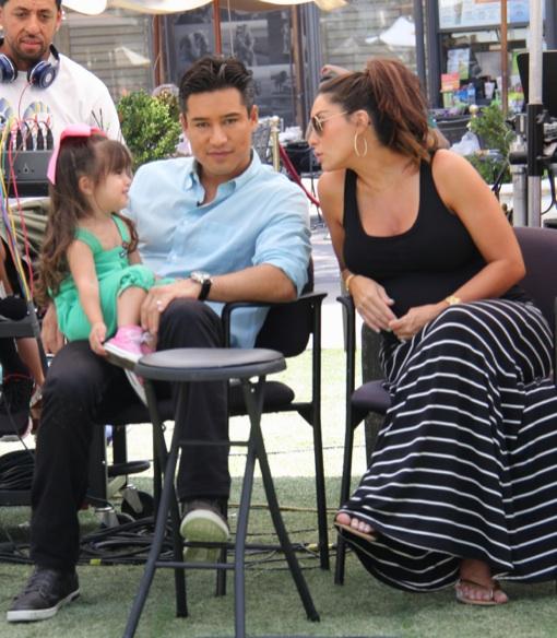Mario Lopez's Two Favorite Girls Visit Him at Work