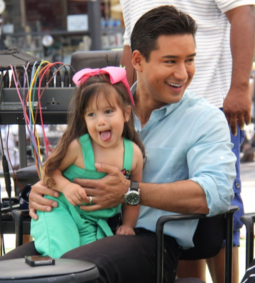 Exclusive Mario Lopez Hangs Out With His Girls On Set Celeb