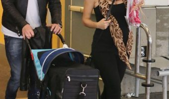 Michael Buble Greets Wife Luisana Lopilato At The Airport