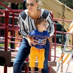 Molly Sims: Park Day With Her Little Boy