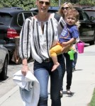 Molly Sims Takes Her Son To Coldwater Park