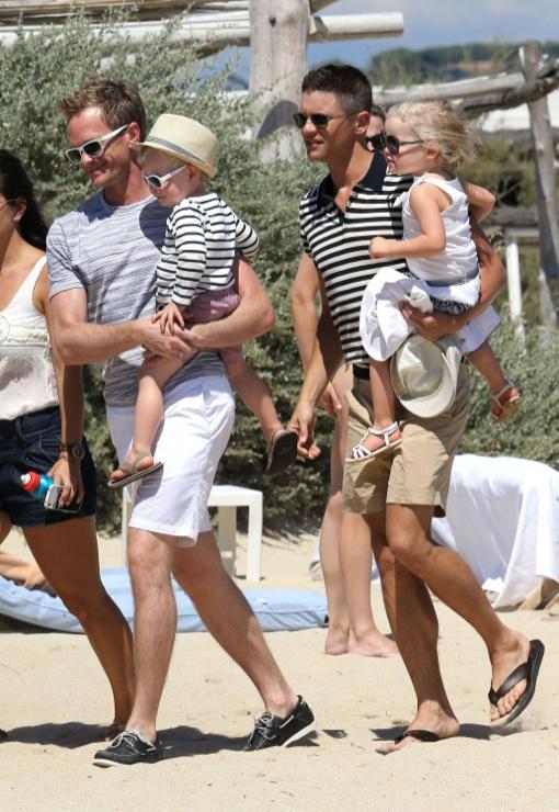 Neil Patrick Harris & David Burtka Vacation In Saint Tropez With Their Twins