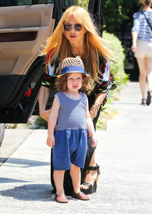 Rachel Zoe & Son Skyler Out Shopping In Beverly Hills