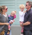 Rebecca Gayheart & Family Lunch In Beverly Hills