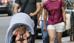 Exclusive... Robert Downey Jr. & Family Out For A Walk In Boston