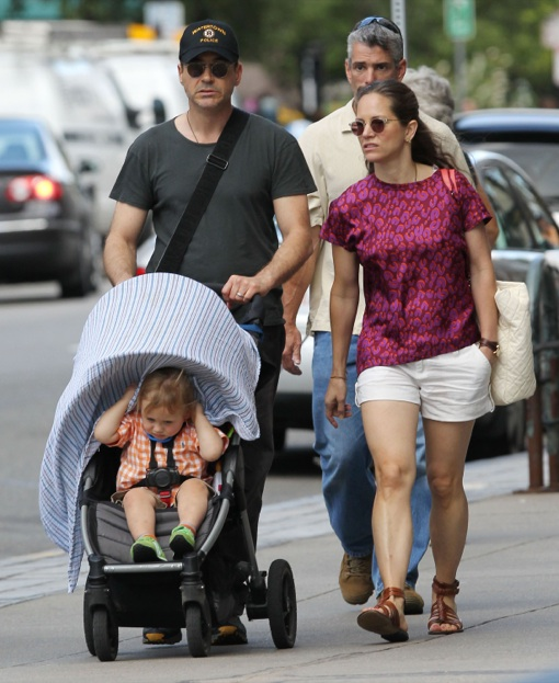 Robert Downey Jr Wife: Robert Downey Jr. Supports Boston While Strolling With