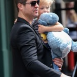 Robin Thicke Takes His Dino Hugging Boy Out For a Day In The Big Apple