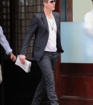 Robin Thicke & His Son Leaving Their Downtown Manhattan Hotel