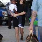 Sandra Bullock & Louis Catch a Flight Out of LA
