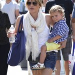 Selma Blair: Farmer Market Day With Her Son