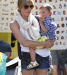 Selma Blair & Son Arthur Shopping At The Farmers Market