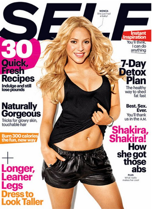Shakira Covers Self Magazine