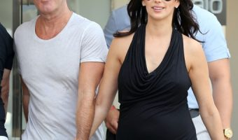 Simon Cowell Puts His Love for Pregnant Lauren Silverman on Display