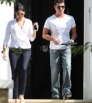 Simon Cowell & Lauren Silverman Grab Lunch In London