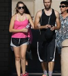 Exclusive... Pregnant Teresa Palmer Works Out With Her Fiance