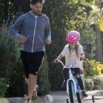 Tobey Maguire Goes For A Jog With Ruby