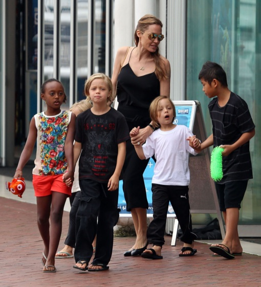 Angelina Jolie Takes Her Kids To Sydney Aquarium Celeb