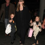 Angelina Jolie & Her Jet-Setting Kids Catch a Flight at LAX