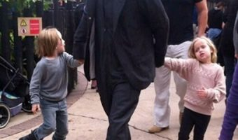 Brad Pitt Takes Takes Kids To Legoland in London