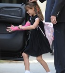 Suri Cruise Heads Home From School