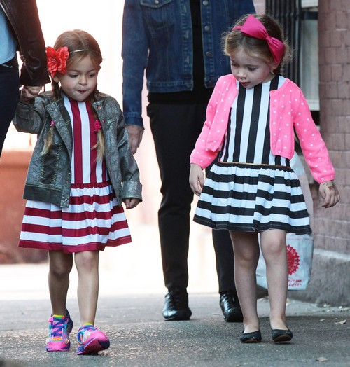 "Marion and Tabitha Broderick ""Mini Fashionistas"" In NYC Yesterday"