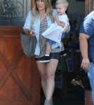 Hilary Duff Takes Her Dog To The Vet