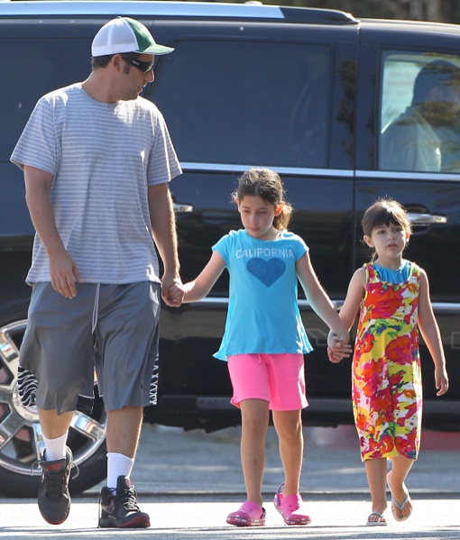 Exclusive... Adam Sandler Takes His Girls To The Gym ...