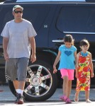 Exclusive... Adam Sandler Takes His Girls To The Gym