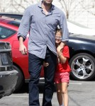 Ben Affleck Spending The Day With His Daughter Violet