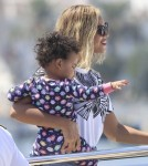 Beyonce & Blue Ivy Board A Yacht In Ibiza
