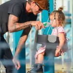 David Beckham Dotes on His Little Girl