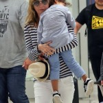 Ellen Pompeo & Family Touch Down