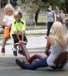 Gavin Rossdale Takes His Boys To The Park