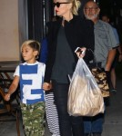 Gwen Stefani & Family Dine Out At Nate 'n Al