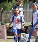 Heidi Klum Watching Her Kids Soccer Games