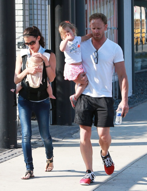 Ian Ziering Furniture Shops With His Girls