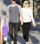 Pregnant Jaime King & Kevin Newman Shopping On Melrose