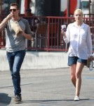 Exclusive... Jaime King Stops For Coffee With Her Husband