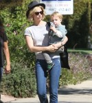 January Jones Takes Xander To A Friend's House