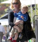 January Jones Takes Xander to Breakfast